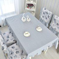 ingrosso coperte di sedia bianca gialla-All'ingrosso-moda plus size cuscino sedia da pranzo set tavolo da pranzo set copertura della sedia cuscino tovaglia panno qualità copre