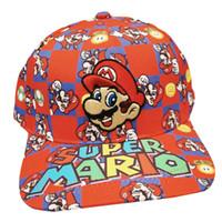 супер марио бейсболки оптовых-Мультфильм Супер Марио Брос хлопок Хип-хоп бейсболка шляпа для мужчин женщин подарок
