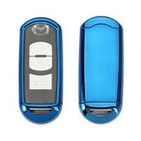 чехлы для ключей от mazda оптовых-ТПУ мягкий пластик ключа автомобиля случае ключ оболочки авто дистанционного управления ключ оболочки Mazda автомобиля специальные автомобильные аксессуары