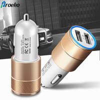 cell smart mini оптовых-Mini Dual 2 Port USB Автомобильное зарядное устройство для смартфонов Smart Mobile iPhone Samsung Телефоны Android Универсальный