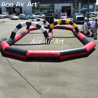Wholesale kart racing for sale - Group buy Colored Inflatable Zorb ball Race way Inflatable go kart Bicycle Race racing Track