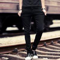 Wholesale Jeans Vaqueros Hombre - Slim Denim Jeans Men Designer Black Stretch Casual Pencil Pants Spring Male Elastic Fit Business Trousers Pants Vaqueros Hombre