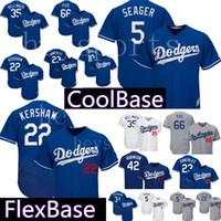 Wholesale kershaw baseball online - Los Angeles Dodgers Clayton Kershaw Corey Seager Jersey Mens Cody Bellinger Justin Turner Joc Pederson FlexBase CoolBase