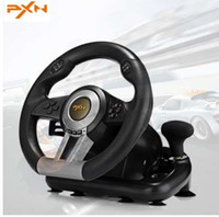 Wholesale game car racing resale online - PXN V3II Racing Game Steering Wheel USB Game Controller Computer Car Driving Simulator for PC Wii Games Wheel for PS3 PS4 Xbox