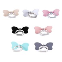 Wholesale iphone bows - Universal 360 Degree Bowknot Finger Ring Holder Bow Tie Phone Stand For iPhone X Samsung Huawei Mobile Phones