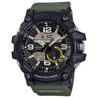 Wholesale analog watch compass online - High quality men s g sports GG1000 G Compass thermometer functions watch LED chronograph shocking all function work waterproof watches