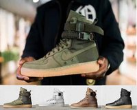 Wholesale Field C - NEW Special field one Air 1 Faded Olive Gum Light Brown Beige Linen high Boots Men Women Running Shoes sports size 36-45