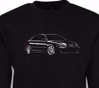 a4 1,8t großhandel-T-Shirt 100% Baumwolldruck-Männer O-Ansatz geben Verschiffen frei Hohe a4 b5 Fans turbo quattro 1.8T 2.0T T-Shirt + Sweatshirt