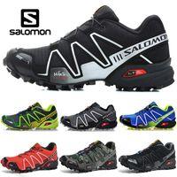 Wholesale new lower sports male resale online - 2018 New Salomon Speed Cross CS Men Designer Running Shoes Black Green Red Blue male Outdoor Sports sneakers size