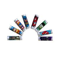 ingrosso vaper nuovo-New Cute Supereroe Hulk Batman Spiderman Flash 18650 20700 21700 Batteria PVC pelle Sticker Vaper Wrapper Copertina Manicotto Termoretraibile Wrap Vape