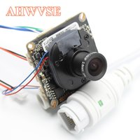 Wholesale ip camera rj45 - AHWVE DIY 1080P 2MP IP Camera module Board with IRCUT RJ45 Cable ONVIF H264 Mobile APP XMEYE Serveillance CMS 2.8mm Lens