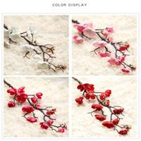ingrosso fiore di ciliegio cinese-Fiore di prugna cinese falso fiore artificiale fiore di ciliegio arredamento per la casa decorazione cerimonia di nozze simulazione fiori di seta 2 7yn bb