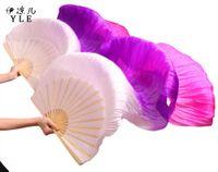 розовые вуаль для танца живота оптовых-2018 новые поступления женщин Шелковый танец живота вентилятор вуали поклонников танца живота на продажу Белый Pueple розовый