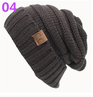Wholesale Dong Man - 2017 hot sell European and American qiu dong CC pasted sweater hat, outdoor warm hat wholesale DHL free shipping