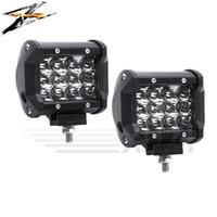 araba bar ışıkları toptan satış-2 adet 36 W 10 ~ 48 V 6000 K Led Işık Bar Modifiye Off-road Işıkları Kamyon Off-road Forklift Mühendislik Araçlar Arabalar Buhar ...