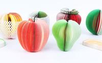 gemüse liefert großhandel-Am billigsten!!! DIY Cute Apfel Grüne Birne Notizen Papier Obst Gemüse Notizblöcke Haftnotizen Papier Pop-up-Notizen Büro Papelaria Supplies