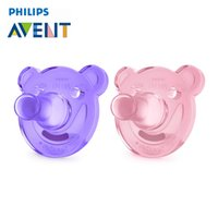 Wholesale Pink Pacifiers - AVENT 1Pcs Silicone Nipple Dummy Baby Soother Toddler Orthodontic Nipples Teether Newborn Baby Girl Pacifier Care For 0-3 Months