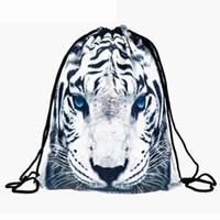 mädchen schultaschen zum verkauf groihandel-Heißer Verkauf Tiger Druck Rucksack Polyester Mini BackpacWomen Schultaschen für Teenager Mädchen Taschen Kinder Rucksack