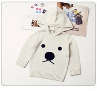 Wholesale funny newborn baby boy clothes resale online - Cute Animal Pattern Newborn Winter Clothing Toddler Infant Knitwear Sweaters Funny Bear Baby Boys Girls Knitted Sweaters Pullovers