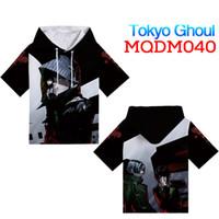 tokyo ghoul geschenke großhandel-Japanischen Anime Tokyo Ghul T-Shirt mit hut Cosplay Kostüm Männer t-shirt Frauen Kleidung Tees freund geschenke M ~ XXXL