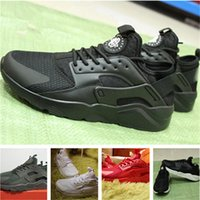 Wholesale Iv 11 - Newest 2018 new Huarache IV Running Shoes For Men Women, Black White High Quality Sneakers Triple Huaraches Jogging Sports Shoes Eur 5.5-11