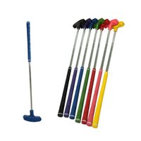 Wholesale Golf Toys - PLAYEAGLE Colorful Kids Rubber Head Putter Clubs Mini Children Double Side Putter Golf Equipment Fitness Golf Toys