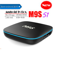 Wholesale best quad core android tv boxes resale online - Best M9S S1 Allwinner H3 G G Android TV BOX Quad Core Ultra HD H K Stream Media Player Better Amlogic S905W TX3 X96 mini S912