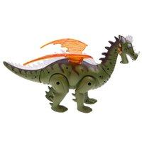 animais robô venda por atacado-Brinquedo elétrico Robô Som Dinossauro w / Wings Light Moving Animal Presente de Natal Brinquedos para Crianças Meninos Do Miúdo 697 RC Animais