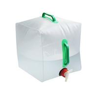 paquete de hidratación de agua al por mayor-El cubo plegable del PVC de la alta capacidad 20L de los bolsos de agua plegable con dos paquetes de la hidración de la manija fácil llevar 7 8st B