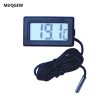 Wholesale indoor thermometer for sale - Group buy MUQGEW M Thermometer Mini LCD Display Digital thermometer with sensor Black V high quality indoor outdoor