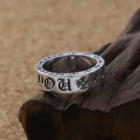 Wholesale antique rings resale online - Personalized sterling silver vintage jewelry American European hand made designer crosses antique silver band rings for men women