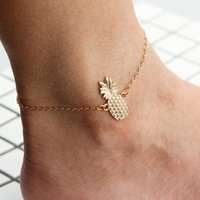 Wholesale sandals pendant for sale - Group buy Pineapple Pendant Anklets Charm Foot Chian Bracelet Sandal Beach Barefoot Gift