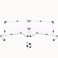 portão de esportes venda por atacado-2 conjuntos diy crianças esportes de futebol gols com bola de futebol e bomba prática scrimmage jogo portão de futebol diy branco
