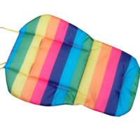 коврик для детского сиденья оптовых-Soft Thick Pram Cushion Chair BB Car Umbrella Cart Seat Pad Cotton Striped Liner Infant Stroller Mat For Baby Kids FJ88