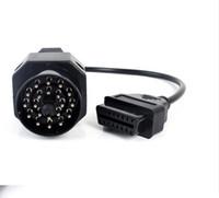 obd2 16pin kabel bmw großhandel-Neue obd2 adapter für bmw 20pin zu 16pin obd1 zu obd2 adapter verbinden kabel für bmw 20p bmw 20 p stecker kabel
