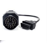 obd2 konektörleri toptan satış-Yeni OBD2 Adaptörü BMW 20PIN Için 16PIN OBD1 OBD2 Adaptörü BMW 20 P BMW 20 P Için Kablo Bağlamak Kablo P
