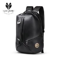 saco refrigerando do portátil venda por atacado-2018 Mochila de Couro dos homens de Moda Designer De Luxo Juventude Legal BackpacWaterproof Laptop Bags Geométrica Mochila sacos de Viagem