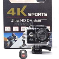sportkamera 4k großhandel-Preiswerteste 4K-Action-Kamera mit Fernbedienung 1080P Full HD-Sportkamera wasserdichter DV-Kleinpaket voller Zubehör