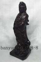 buddha statues china Canada - Exquisite wood carving - Lucky Guanyin Buddha statue