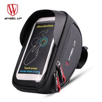 Wholesale touchscreen frame - Wheel Up Waterproof Bike Bag 6.0 Inch Touchscreen Bicycle Front Frame Bag Cycling Phone Black Bike Pouch Bicycle Accessories