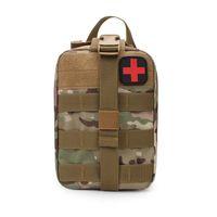 taktik torba toptan satış-Taktik Tıbbi Ilk Yardım Kiti Yama Çanta Açık Yardımcı Kılıfı Tıbbi Kapak Avcılık Acil Survival çanta