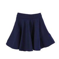 Wholesale Ladies Black Pleated Mini Skirt - Skirts Womens Ladies High Elastic Skirt Waist Cotton Pleated Mini Short Skirt OL Slim New Sale Skirts Women