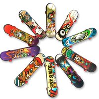 Wholesale fingerboard finger for sale - Group buy Mini Skate Boarding Fingerboard Toy Graffiti Plastic skateboard Finger Hand Wrist Finger Exercise Toy mixed colors Gifts cm HH7