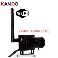 ip kamera varifocal großhandel-2.8-12mm varifokale Linse H.264 2.0MP wifi Kamera P2P Mini Wifi IP-Kamera 1080P volle Hd IP Wireless CCTV Sicherheit