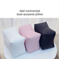 Wholesale pillow arms - Nail Art PU Leather Table Hand Pillow White Black Pink Arm Rest Cushion Salon Manicure Tool Hand Rests Nail Care Pillow