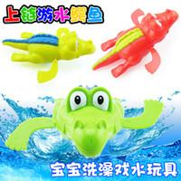 schwimmen krokodil spielzeug großhandel-Uhrwerk-Spielzeug-Baby-Wasser-Schwimmen-Schwimmen-Krokodile der kreative Kinder