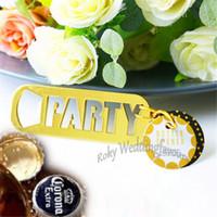 bomboniere liefert großhandel-50 STÜCKE PARTY Flaschenöffner Hochzeit Dusche Event Bier Flaschenöffner Jahrestag Party Werbegeschenke Bomboniere Geschenke Party Supplies