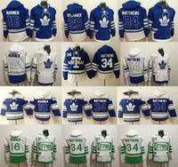 moletons hockey hoodies venda por atacado-Toronto Maple Leafs Hoodies 91 JohnTavares 16 Mitch Marner 29 William Nylander 34 AustonMatthews Hóquei Hoodies Moletons