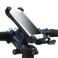 подставка для iphone для велосипедов оптовых-Мотоцикл Велосипед Руль Клип Кронштейн 360 Вращений Универсальный Телефон Велосипед Держатель Мотоцикла Стенд Для iPhone Samsung С Розничной Коробке