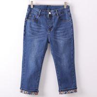 163a6135 Summer Skinny Jeans Capris Women Stretch Knee Length Denim Pants High Waist  Women's Jeans Plus Size Female Short Jean for Woman
